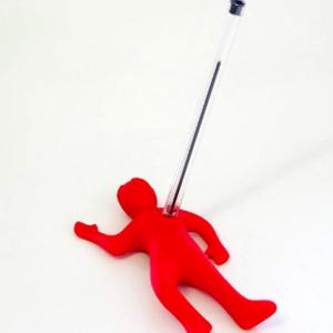 stabbed man pencil holder