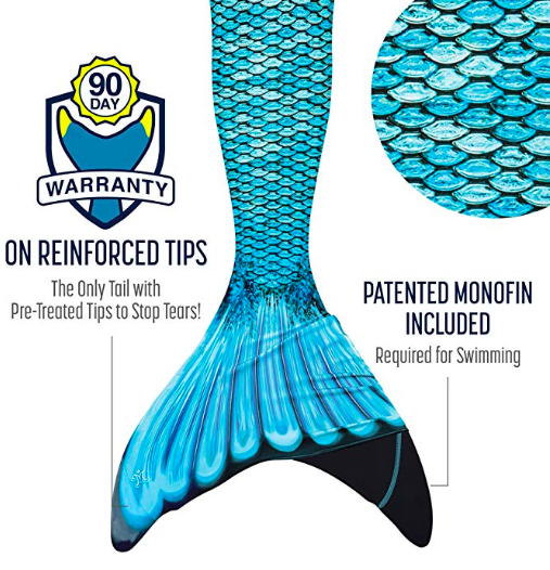 mermaid tail warranty information
