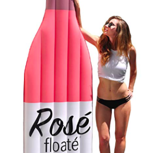 The Rosé wine bottle pool float.