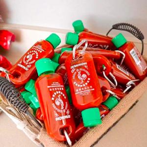 Sriracha Key Chain Set