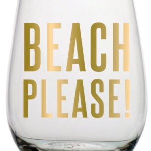 beach please wine glass