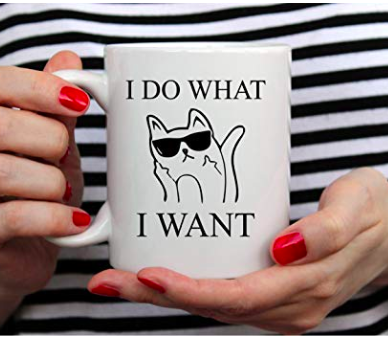 badass cat mug
