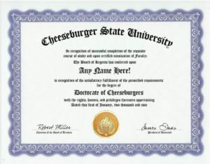 best fake college degree