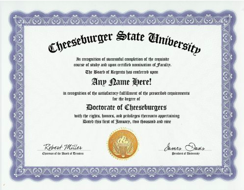 best fake college degree