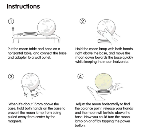 the lunar moon lamp instructions