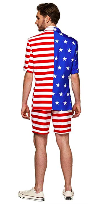 American flag casual summer suit