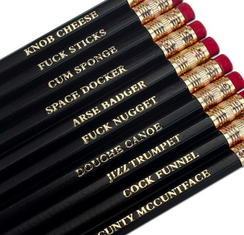 offensive pencils