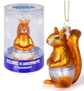 squirrel in underpants - funny Christmas tree ornaments