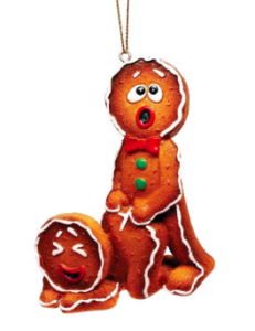 Gingerbread Couple have sex - funny Christmas tree ornaments