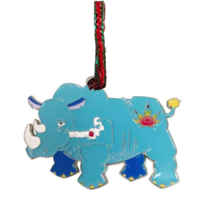 Stoned Rhino - funny Christmas tree ornaments