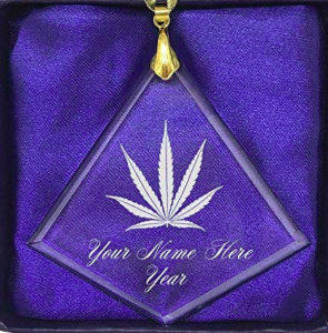 Fancy weed ornament - funny Christmas tree ornaments