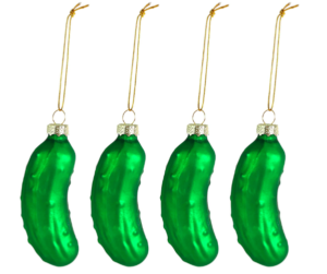 Glass Pickle - funny Christmas tree ornaments