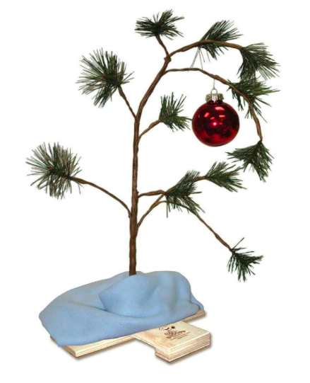 the original charlie brown christmas tree
