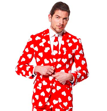 A Red Heart Suit for sale.