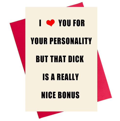 Crude Valentine's Card