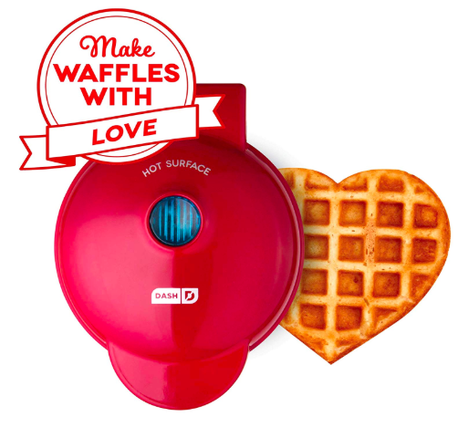 Mini heart shaped waffle maker
