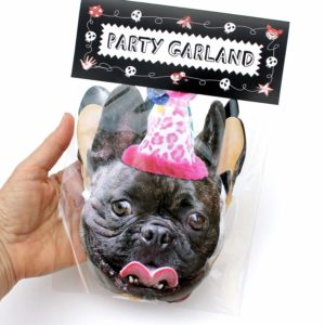 french bulldog birthday hat garland