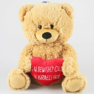 Jewish Valentines Day Plush Bear