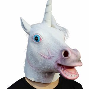 creepy unicorn mask
