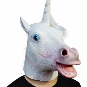 creepy unicorn mask