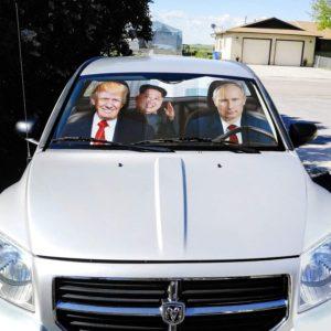 trump putin 2020 car shade